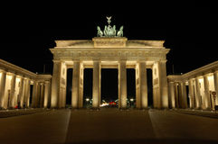 Brandenburger Gate in Berlin. Germany at Night royalty free stock photos