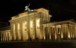 Brandenburger gate Berlin. Gate to east and west Berlin Royalty Free Stock Image