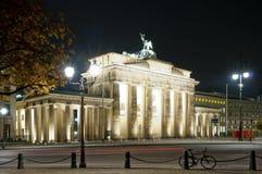 Brandenburger gate in Berlin at night stock image