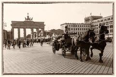 Brandenburg Gate, Berlin, Retro style Stock Photo