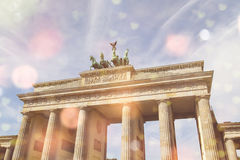 Brandenburger gate and lighteffects Royalty Free Stock Photo