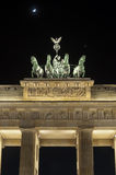 The Brandenburger Tor. (Brandenburg Gate) in the evening in Berlin, Germany Stock Photography