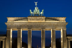 The Brandenburger Tor. (Brandenburg Gate) in the evening in Berlin, Germany Stock Images