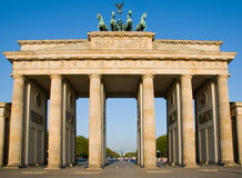 Brandenburger Tor in Berlin. In the early morning stock photo