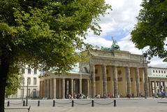 Brandenburger Tor in Berlin. View at the Brandenburger Tor in Berlin royalty free stock image