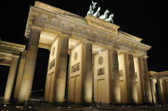 Brandenburger Tor in Berlin. At night Stock Image