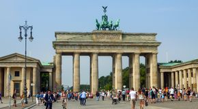 Brandenburger Tor in Berlin, Deutschland lizenzfreies stockfoto