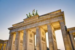 The Brandenburger Tor at Berlin, Germany stock photography