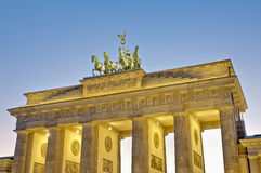 The Brandenburger Tor at Berlin, Germany stock images