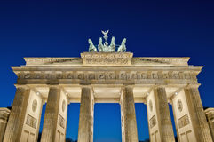 The Brandenburger Tor at Berlin, Germany. The Brandenburger Tor (Brandenburg Gate) is the ancient gateway to Berlin, Germany stock photos
