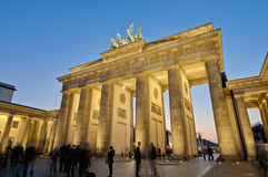 The Brandenburger Tor at Berlin, Germany. The Brandenburger Tor (Brandenburg Gate) is the ancient gateway to Berlin, Germany royalty free stock image