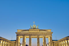 The Brandenburger Tor at Berlin, Germany Royalty Free Stock Photos