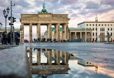 The Brandenburger Tor in Berlin, Germany stock image