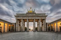 The Brandenburger Tor in Berlin, Germany in fall time stock photo
