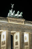 Brandenburger Tor in Berlin at night Stock Photo