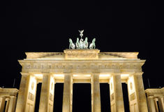 Brandenburger Tor in Berlin at night Royalty Free Stock Images