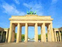 Brandenburger Tor, Berlin oil paint Stock Photos