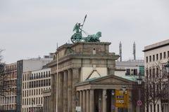 Brandenburger tor berlin Tyskland royaltyfria foton