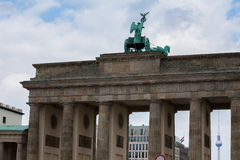 Brandenburger tor berlin Tyskland royaltyfri fotografi