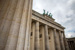 Brandenburger tor berlin Tyskland royaltyfri bild
