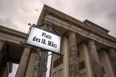 Brandenburger tor berlin Tyskland arkivbilder