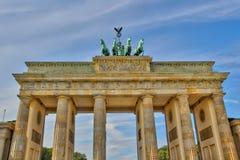 Brandenburger Tor Berlin, wschodnia część zdjęcia stock