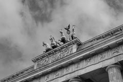 Brandenburger Tor. A black and white image of the Brandenburg Gate in Berlin Royalty Free Stock Image