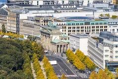 Brandenburger Tor Brandenburg Gate Één van het famost oriëntatiepunt royalty-vrije stock fotografie