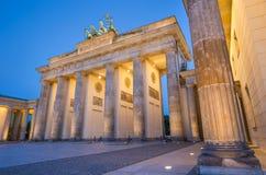 Brandenburger Tor (Brandenburg Gate) in Twilight, Berlin, Germany stock photography