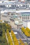 Brandenburger Tor Brandenburg Gate Un du point de repère famost image libre de droits