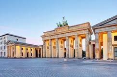 Brandenburger Tor Brandenburg Gates en Berlín, Alemania imagen de archivo