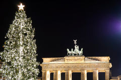 Brandenburger tor in december Stock Image