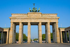 Brandenburger Tor in the early morning sun Royalty Free Stock Photo