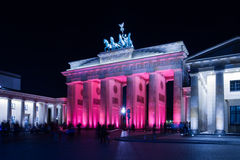 Brandenburger Tor Illuminated Stock Image