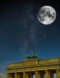 Brandenburger Tor Nacht Lizenzfreies Stockbild