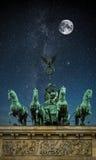 Brandenburger Tor Nacht Stockfoto