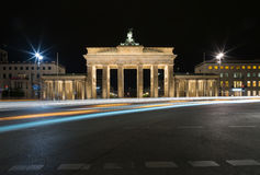 Brandenburger Tor nachts Lizenzfreies Stockbild