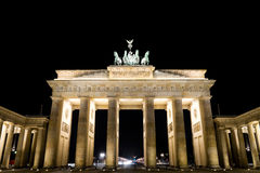 Brandenburger tor by night Stock Images