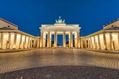 The Brandenburger Tor at night Stock Photos