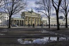 Brandenburger Tor odbicie Zdjęcie Stock