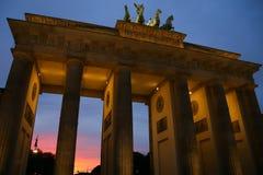 Brandenburger Tor in Pariser Platz, Berlin Stock Photography
