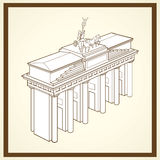 Brandenburger Tor Postkarte Lizenzfreies Stockbild