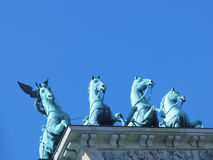 Brandenburger Tor - quadriga Royalty Free Stock Photo