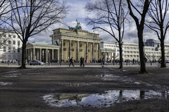 Brandenburger Tor Reflection Photo stock