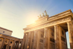 Brandenburger tor with sunlight Stock Image