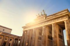Brandenburger tor with sunlight Stock Image