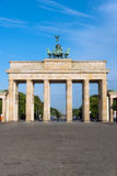 The Brandenburger Tor on a sunny day stock images