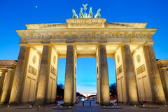 The Brandenburger Tor at sunset Royalty Free Stock Photos