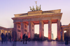 Brandenburger Tor Sunset Royalty Free Stock Photography