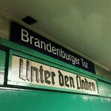 Brandenburger Tor u-bahn rail station berlin Royalty Free Stock Images